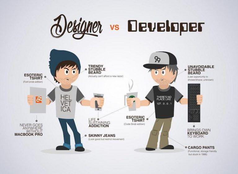 Diseñador Web vs Desarrollador Web